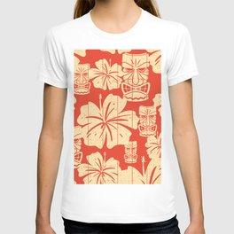 Tiki Pattern in Red T-shirt
