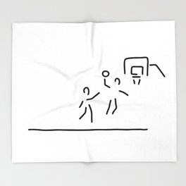 basketball usa basketball player Throw Blanket