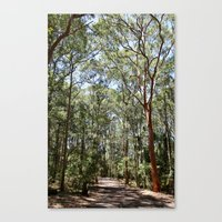 hiking Canvas Prints featuring Hiking by Georgia