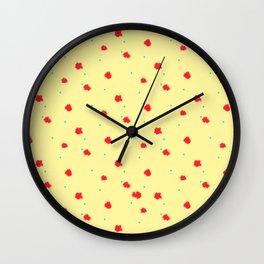 Limone a pois Wall Clock