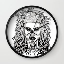 Die Antwood Inspired Illustration Wall Clock