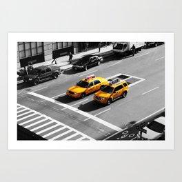 New York Cabs. Art Print
