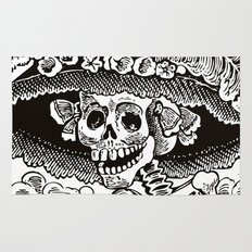 Calavera Catrina | Black and White Rug