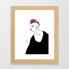 P!NK HAIR Framed Art Print