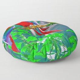 Phenomenal Stunning Rainbow Color Air Creatures Zoom UHD Floor Pillow