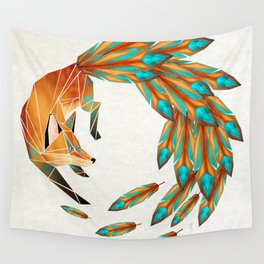 fox circle Wall Tapestry