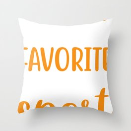 Camping is my Favorite Sport.  Throw Pillow