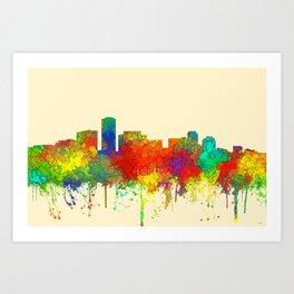 Long Beach California Skyline - SG Art Print