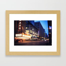 Chicago Theatre Framed Art Print