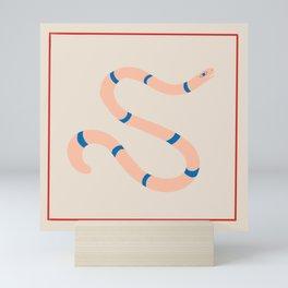 slither stripes Mini Art Print