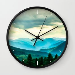 Clouded Beauty Wall Clock
