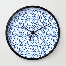 blue line – abstraction,abstract,geometric,geometrical,pattern,line Wall Clock
