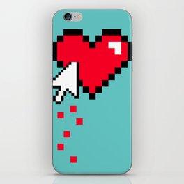 Broken 8 bits Heart iPhone Skin