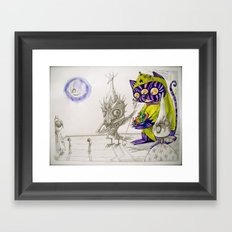those who don't believe in magic will never find it Framed Art Print