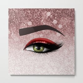 Glam diamond lashes eye #2 Metal Print