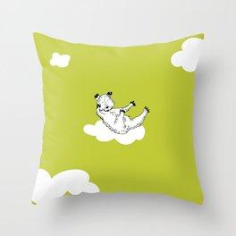 Flying Bear by McKenna Sanderson Throw Pillow