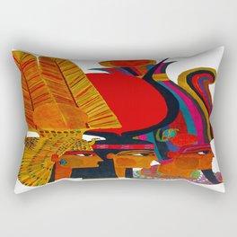 Vintage Egypt Headdress Travel Rectangular Pillow