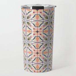 Coral Decoraive Tile Travel Mug