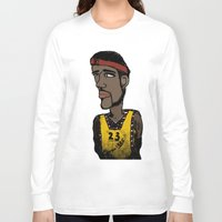 basketball Long Sleeve T-shirts featuring Basketball  by JBLITTLEMONSTERS