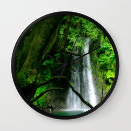Waterfall in Azores islands Wall Clock