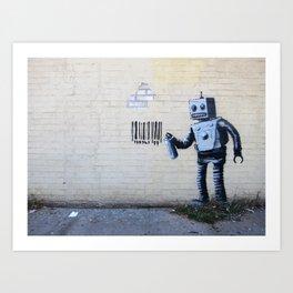 Banksy, Robot Art Print