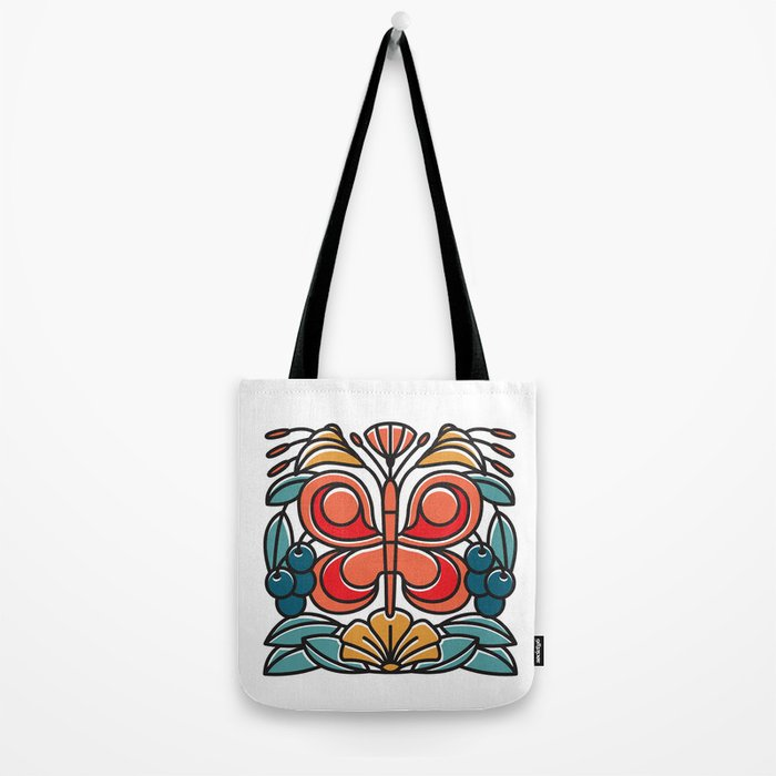 Butterfly tile Tote Bag