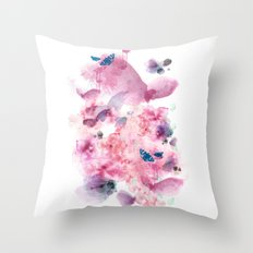Life in colour Throw Pillow