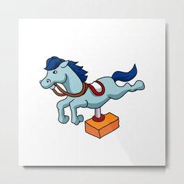 illustration of mechanical horse Metal Print