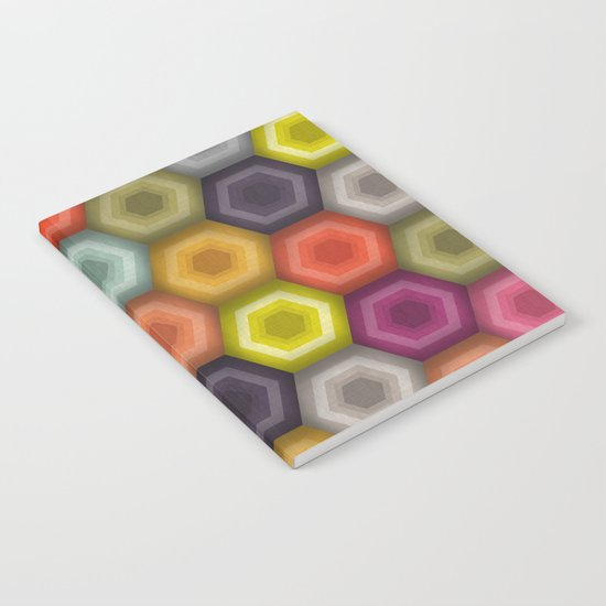 crochet honeycomb Notebook