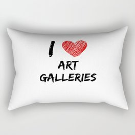 I Love Art Galleries Rectangular Pillow
