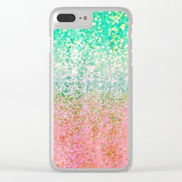 Summer Rain Merge Clear iPhone Case