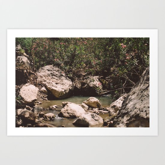 Follow The River Art Print