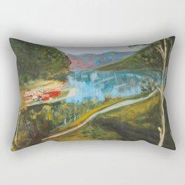 Flåm From Above Rectangular Pillow