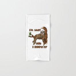 I'm Lazy And I Know It | Sloth Sleeping Animal Hand & Bath Towel