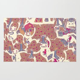 The orchard is such a very silly place Rug