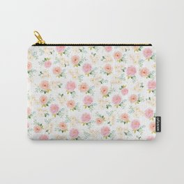 Sweet Pink Blooms (Floral 02 - Small) Carry-All Pouch