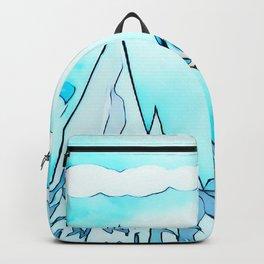 Polar bear on the surf board Backpack