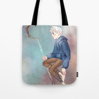 jack frost Tote Bags featuring Jack Frost by Rosita Maria