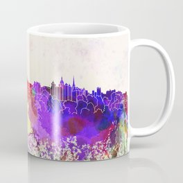 Edinburgh skyline in watercolor background Coffee Mug
