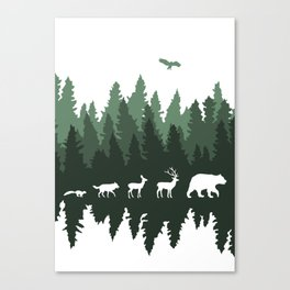 The Walk Through The Forest Canvas Print