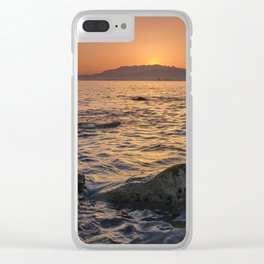 At sunset . Mediterranean Sea. Spain Clear iPhone Case