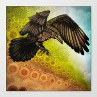 raven Canvas Prints featuring Raven by Alohalani
