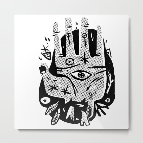 Hand help Metal Print