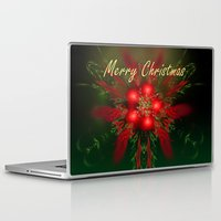 merry christmas Laptop & iPad Skins featuring Merry Christmas by Roger Wedegis