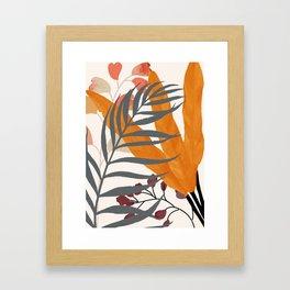 Colorful Red Leaves Framed Art Print