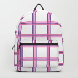 Pink And Purple Grid Backpack