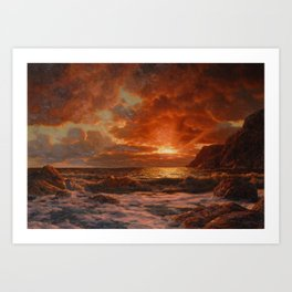 Sunrise over the Sea by Ivan Fedorovich Choultsé Art Print