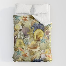Seashells And Starfish Comforters