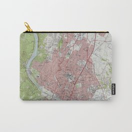 Vintage Map of Austin Texas (1955) Carry-All Pouch