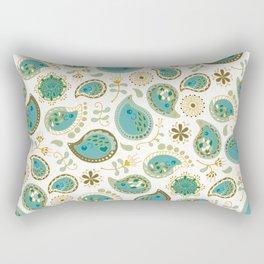 Hedgehog Paisley_Teal BgWhite Rectangular Pillow